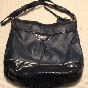 Coach navy blue bag